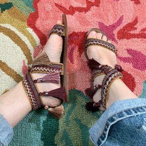 Topshop Fiji Tassel Sandals